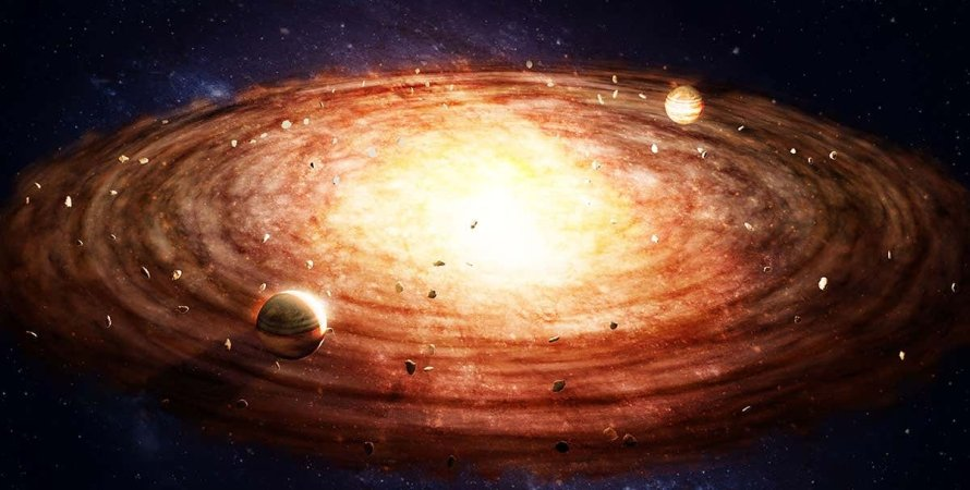 формирование планет, планеты, космос, свет