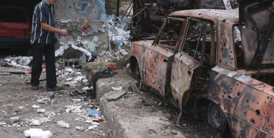 Последствия обстрела в Донецке / Фото: ЕРА
