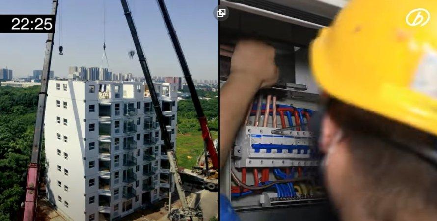 строительство, жилой дом