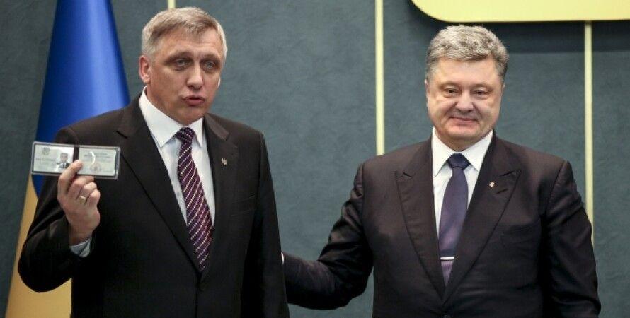 Петр Порошенко и Андрей Загородный, 6 марта / Фото пресс-службы президента