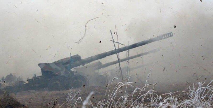 Артиллерия сил АТО / Фото пресс-службы Минобороны