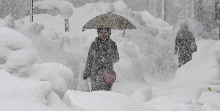 снегопад в Киеве февраль 2021, осадки, закрытие школ и детсадов, сугробы, горы снега
