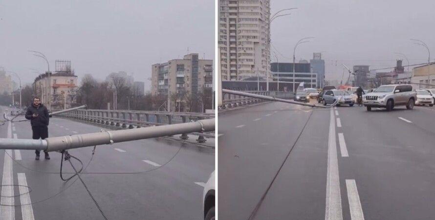 шулявский мост, шулявский путепровод, столбы, опоры