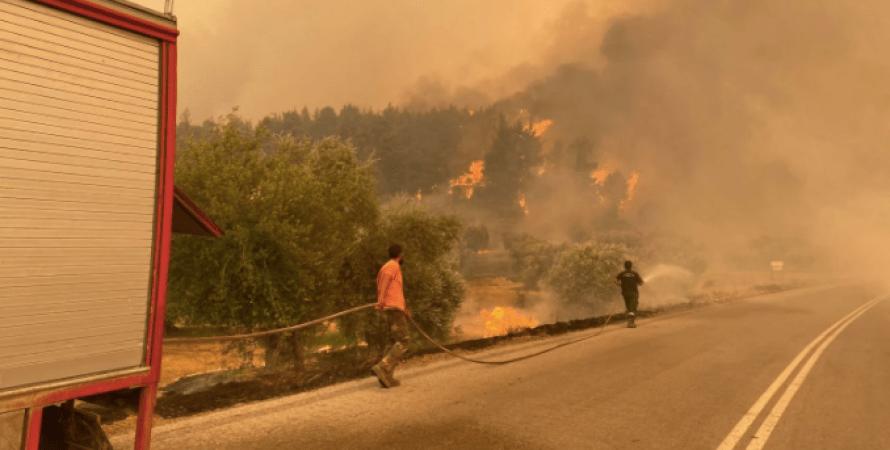пожары в греции, лесные пожары