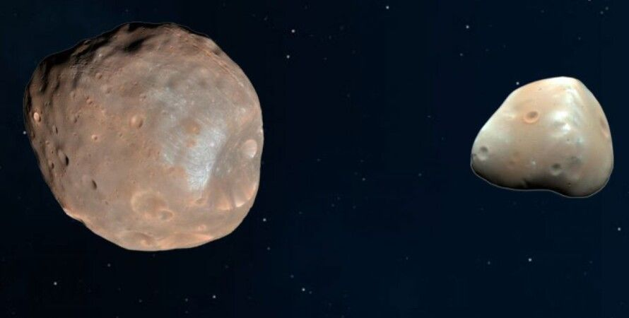 спутники, Марс, Деймос, Фобос