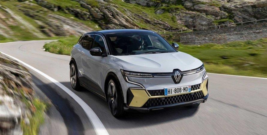 Megane E-Tech Electric 2022, електромобіль, електричний кросовер, новий Рено, новий Renault, зовнішність, екстер'єр