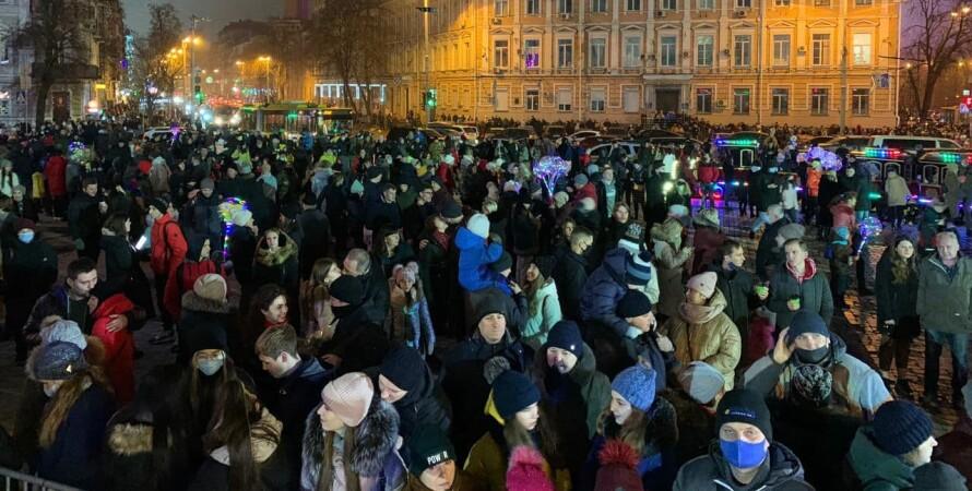 улица, люди, новый год, ярмарка