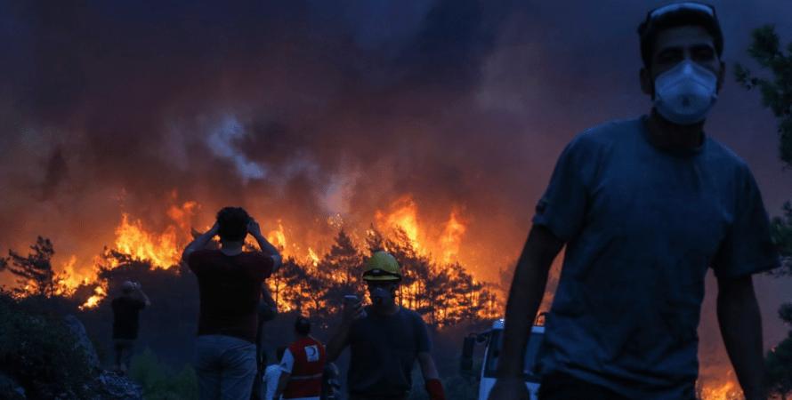 пожежі в Греції, Афіни
