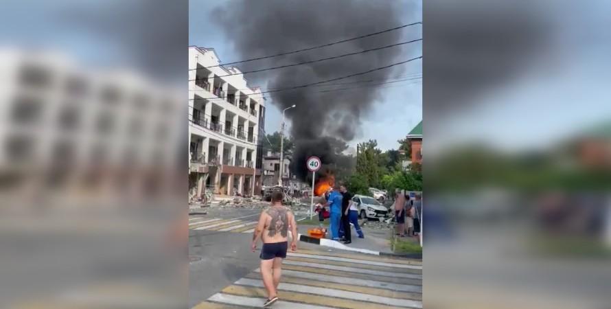 Геленджик, взрыв, отель