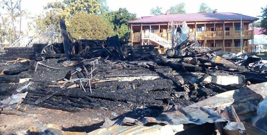"""Место пожара в лагере """"Виктория"""" / Фото: facebook.com Поліція Одеської області"""