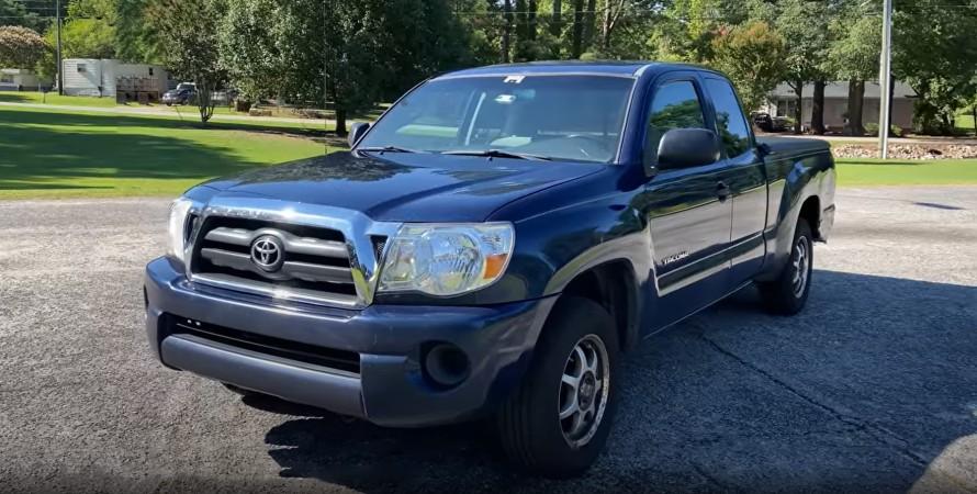 Пикап Toyota Tacoma рекордный пробег 2,4 млн км