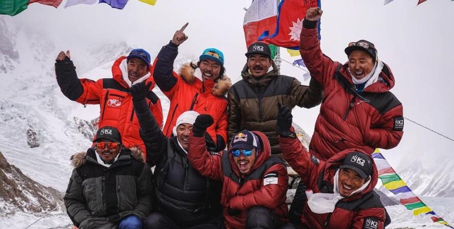 альпинисты, горы, К2, Чогори, Непал, туризм