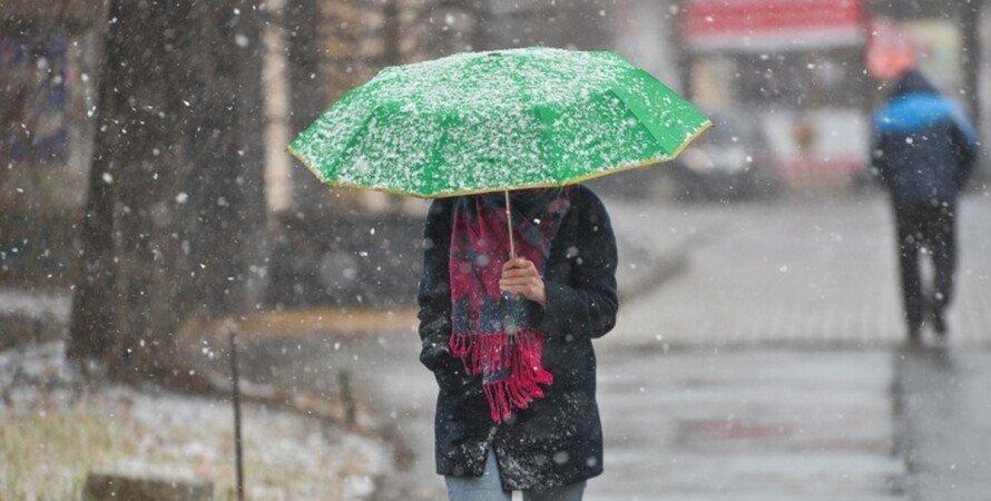 украина, погода, дождь, снег, снегопад