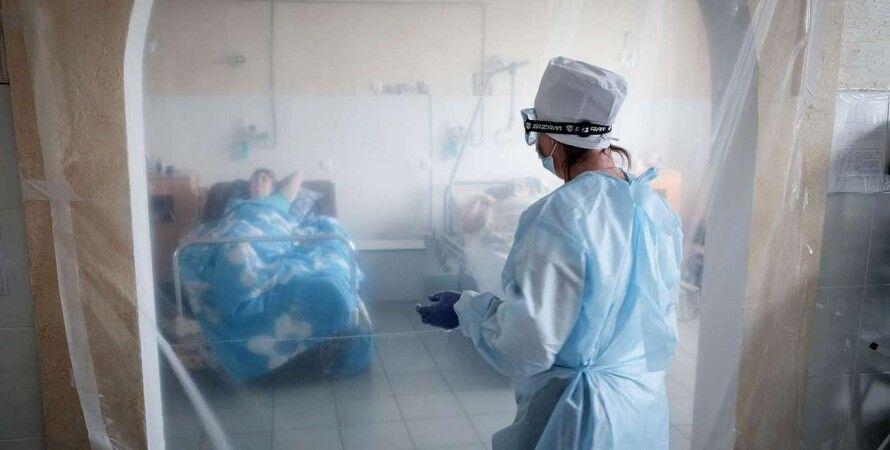 заболевшие коронавирусом, отделение для больных коронавирусом, больница для covid-больных
