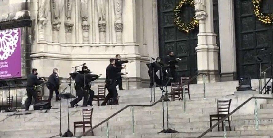 нью-йорк, собор святого иоанна, стрельба, стрелок