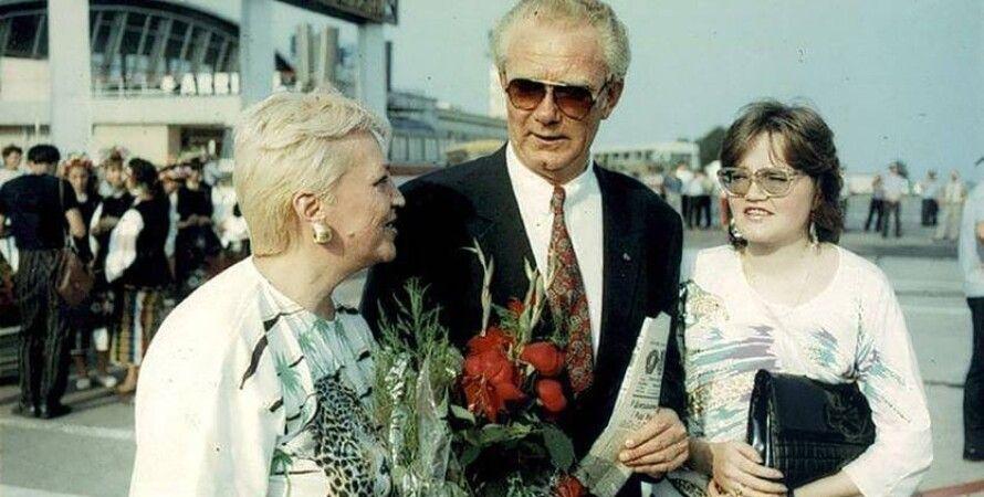 Валерий Лобановский с семьей