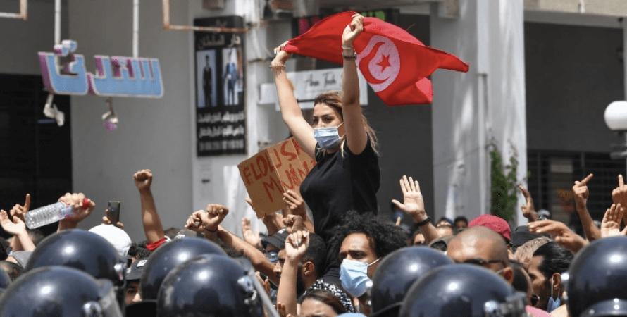 тунис, протесты, коронавирус