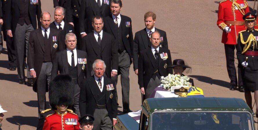 принц гарри, принц уильям, кейт миддлтон, похороны