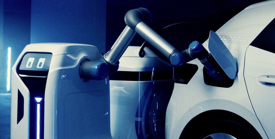 робот, электрокар, Volkswagen