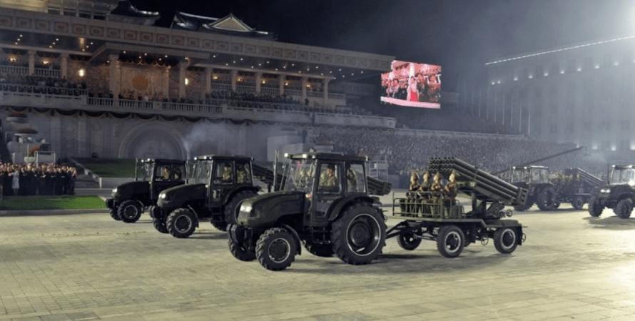 северокорейский парад
