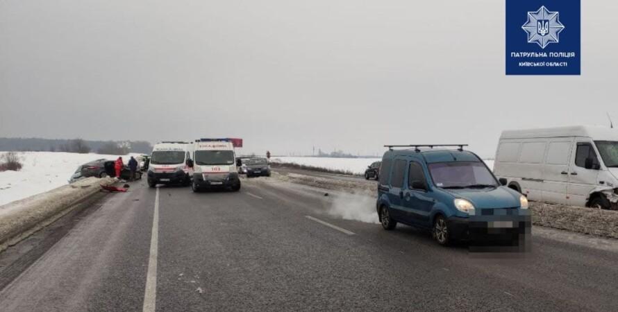 авария, дтп, трасса киев-бровары