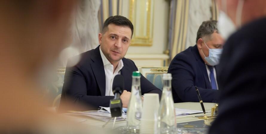 Владимир Зеленский, совещание, президент, послы, дипломаты