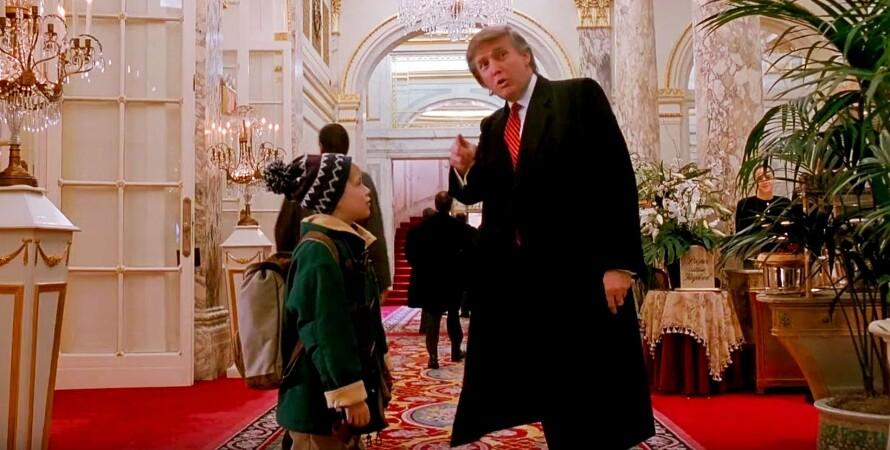 трамп, дональд трамп, сша, один дома, кино