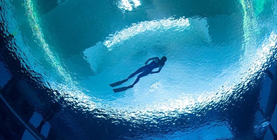 ОАЭ, бассейн, Deep Dive Dubai, дайверы,