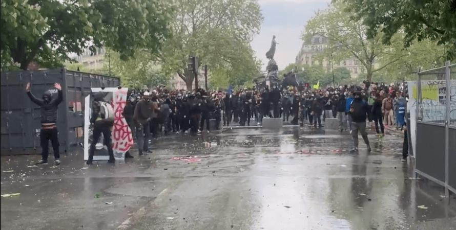 протест, демонстрация, париж, фото