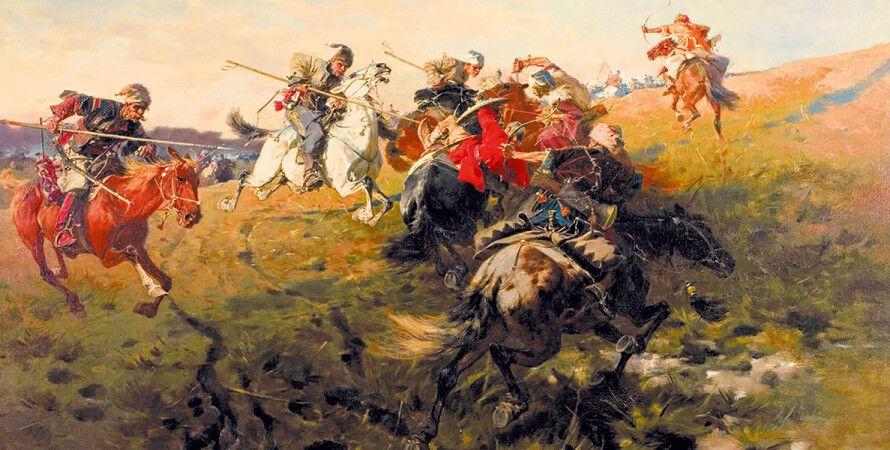 """Картина: Юзеф Брандт, """"Схватка с татарами"""""""