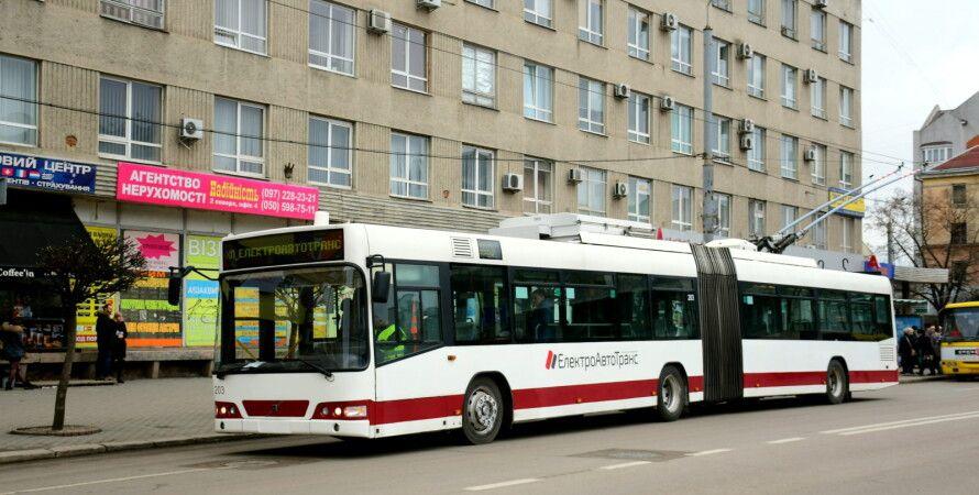 транспорт, троллейбус, ивано-франковск, коронавирус