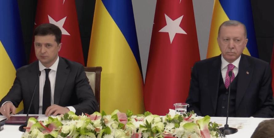 Владимир Зеленский, Реджеп Тайип Эрдоган, пресс-конференция, встреча, стамбул, аннексия крыма