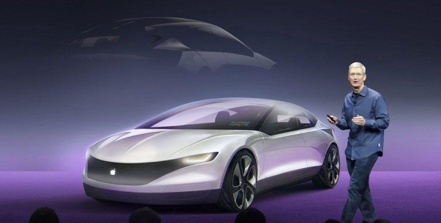 рисунок, эскиз, как может выглядеть Apple Car