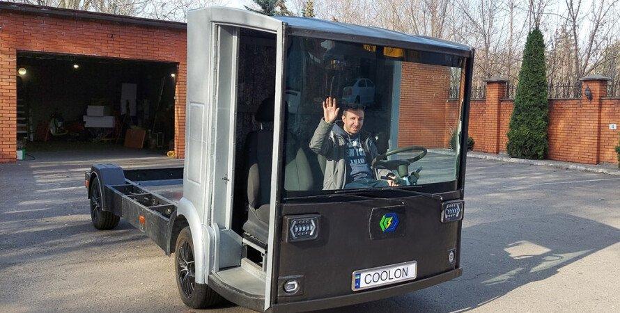 Электрогрузовик CoolOn, украинский электрогрузовик  CoolOn, украинский электромобиль  CoolOn