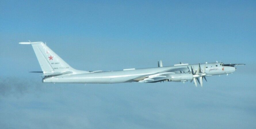 Ту-142, Англия  Северное море, перехват, истребители