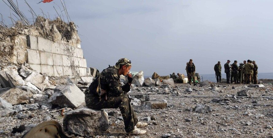Боевики в Донбассе / Фото: пресс-центр АТО