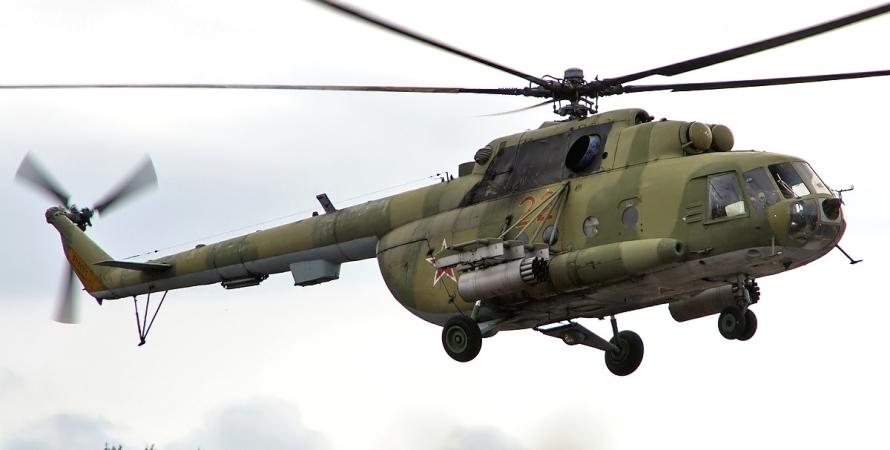 агрессия РФ в Украине, война на Донбассе, авиация РФ, вертолет Ми-8, Госпогранслужба