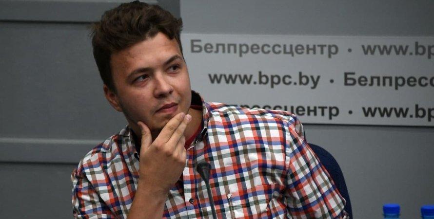Роман Протасевич, задержанный