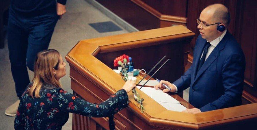 міністр, Степанов, рада, дві гвоздики, похоронні квіти, вручили дві гвоздики, помер від коронавируса, квіти з похорону