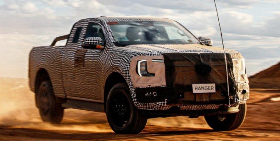 новий Ford Ranger 2022 проходить випробування, новий пікап
