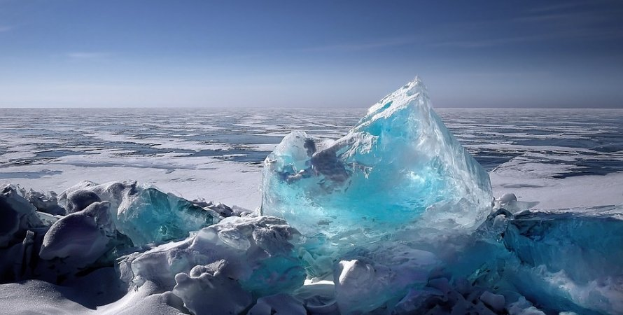 лед, океан, небо, фото