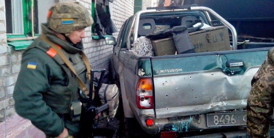 Боец АТО в Широкино/ Фото пресс-службы Минобороны Украины
