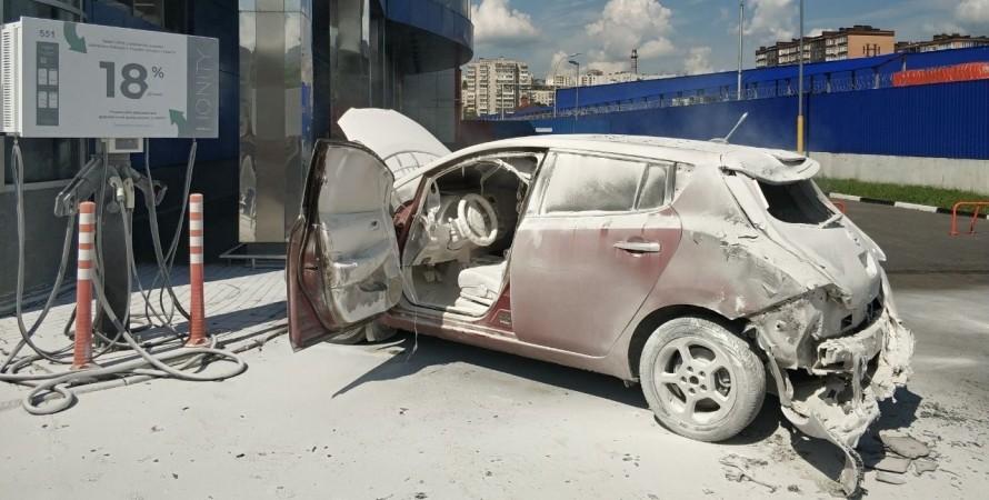 в Хмельницком сгорел Nissan Leaf