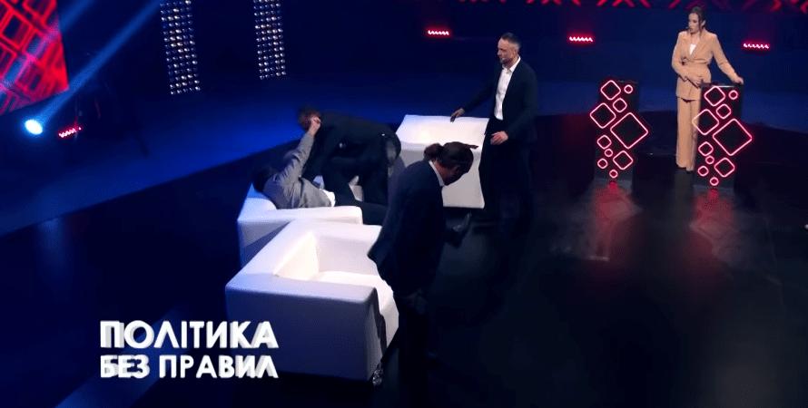 Олег Барна драка, Барна депутат, Олег Барна, Дмитрий Соломчук, барна подрался, прямой эфир, слуга народа