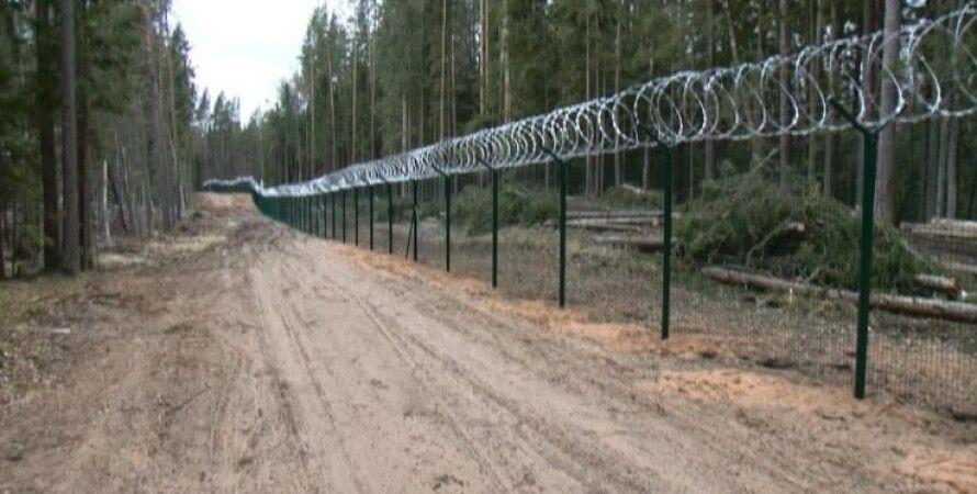 Забор на границе Латвии и России / Фото: lsm.lv
