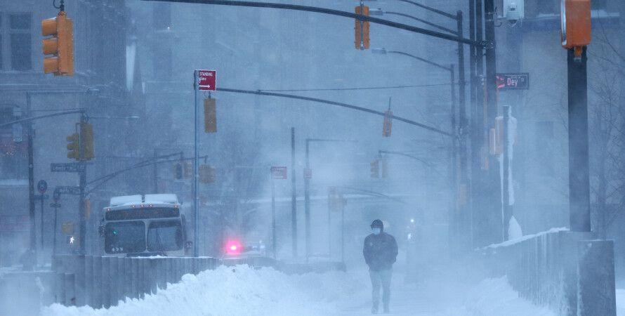 непогода в сша, снегопад в нью-йорке, погода в сша,