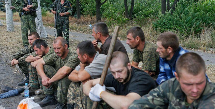 Украинские пленные на Донбассе / Фото: Интерфакс