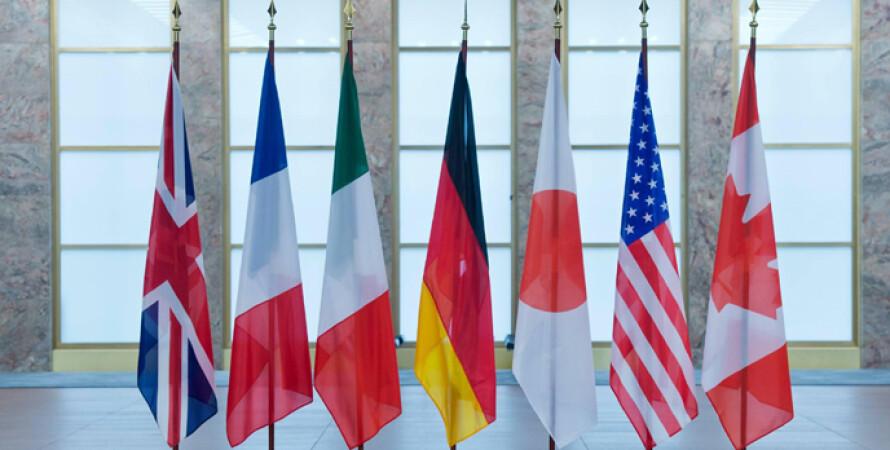 Страны G7, флаги