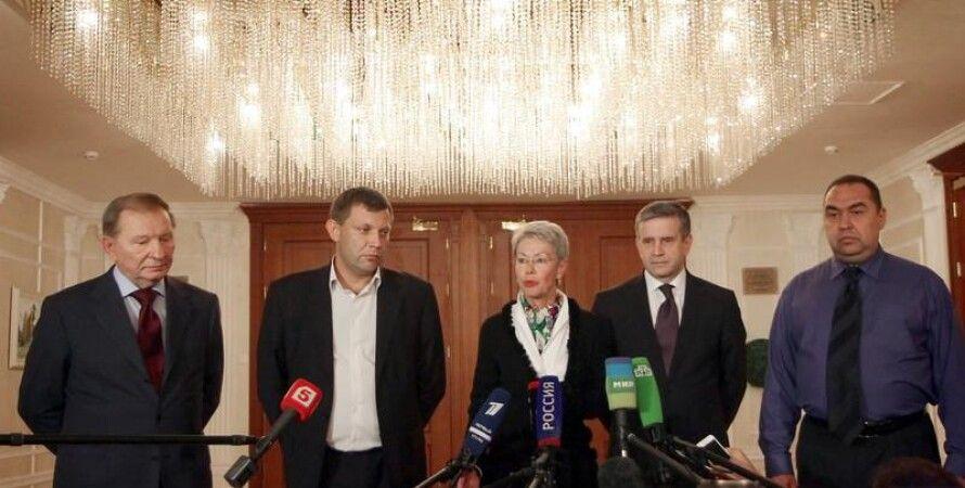 Встреча в Минске: Кучма, Захарченко, Тальявини, Зурабов, Плотницкий / Фото: EPA
