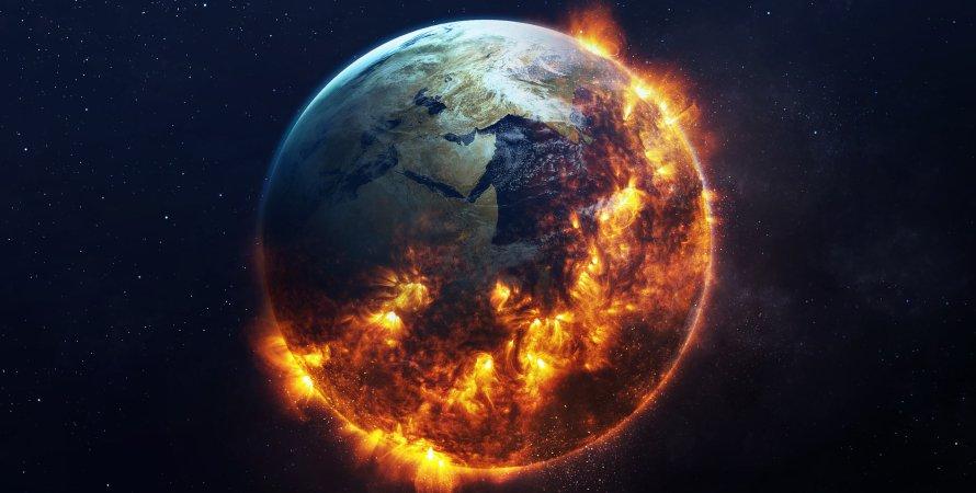 Земля, знищення, кінець світу, малюнок